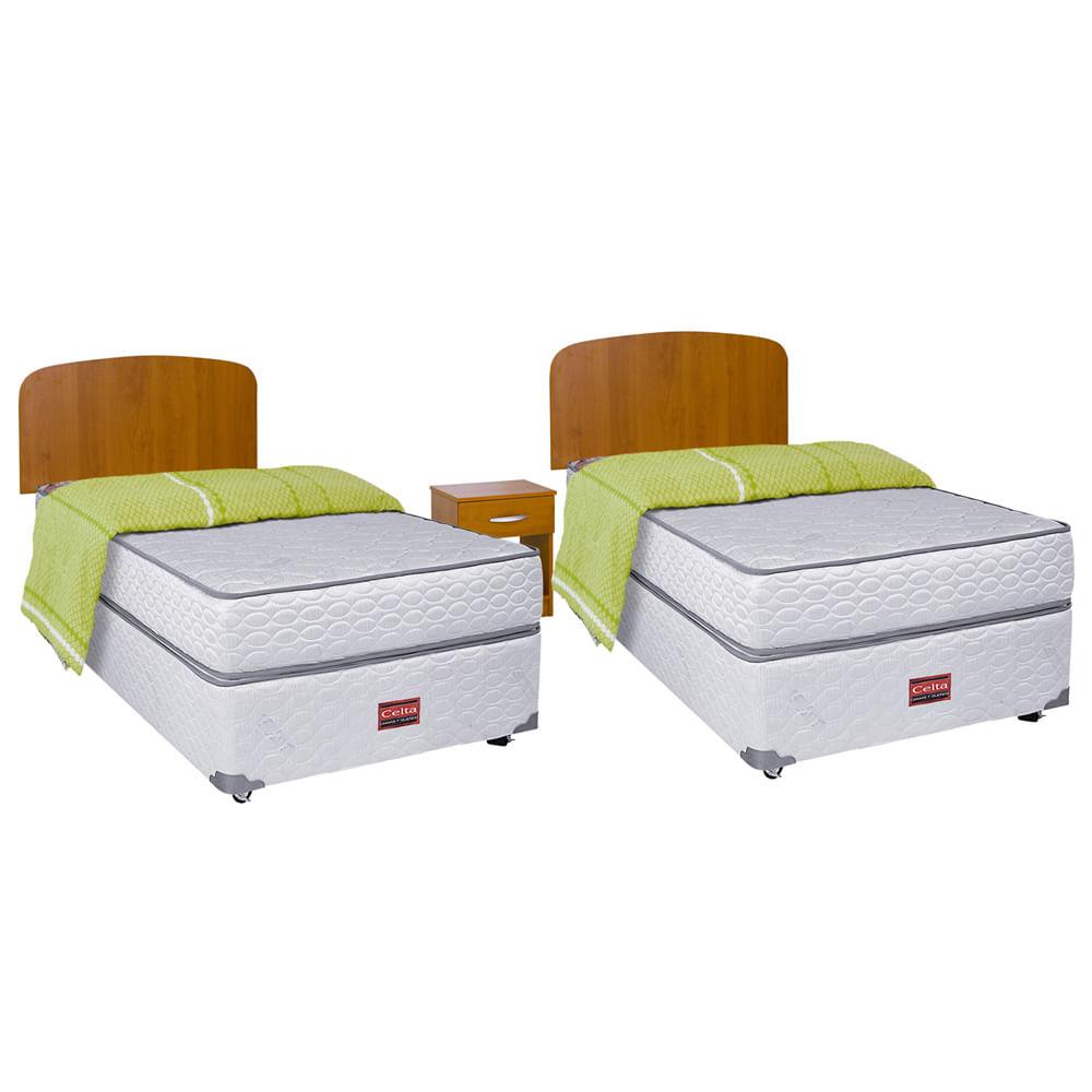 cama americana duplex 1 plaza celta cobertor corona