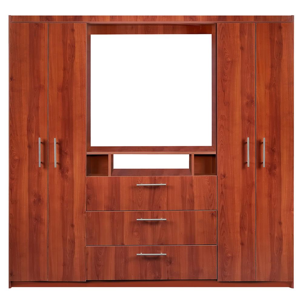 Cl set 6 puertas 3 cajones cerezo cic corona for Modelos de zapateras en closet