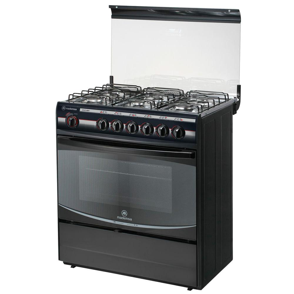 Cocina 6 quemadores diva mademsa corona for Cocinas whirlpool modelos