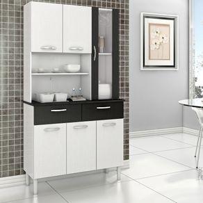 Mueble-de-Cocina-6-Puertas-2-Cajones-Blanco-Negro-Roch-