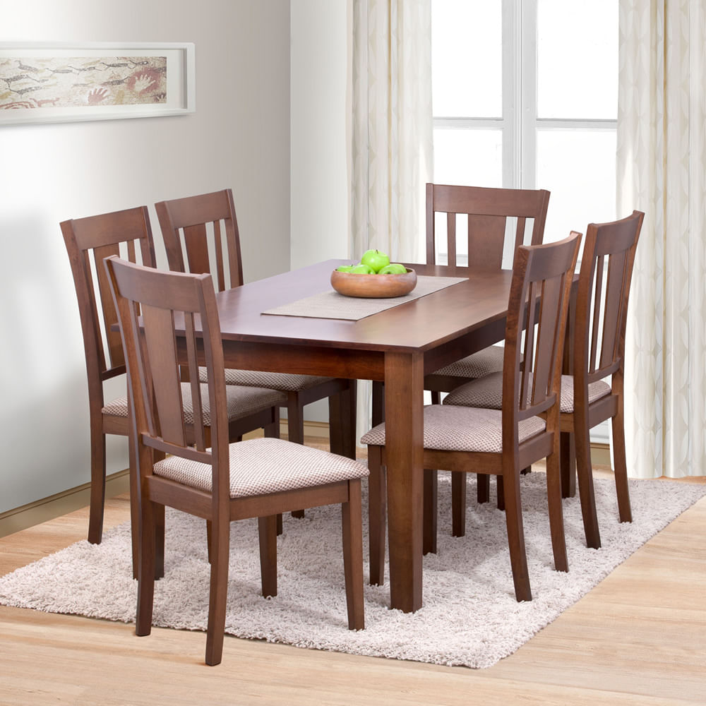 Muebles un comedor 20170915092829 for Comedor de madera 6 sillas