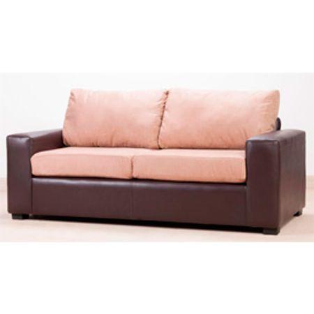 Sof 3 cuerpos bicolor caf moro beige muebles america for Sofa wald 3 cuerpos