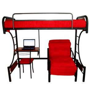 Camarote desmontable 1 plaza rosen ergo t 90x190 peral for Silla escritorio alta