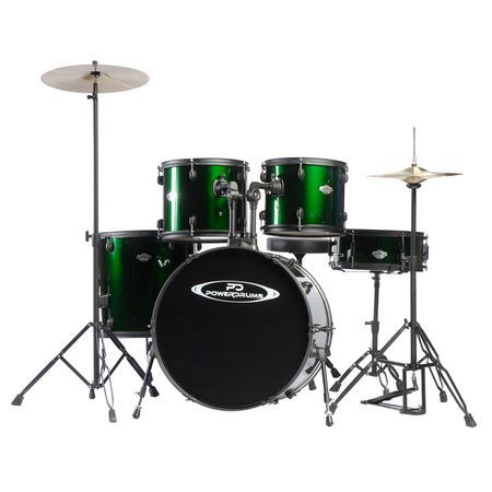 Set-de-Baterias-Powerdrums-PD-04-Verde