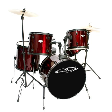 Set-de-Baterias-Powerdrums-PD-04-Roja