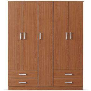 Closet-5-Puertas-4-Cajones-Roma-Cherry-Deco-Casa