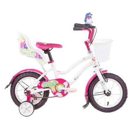 Bicicleta-Aro-12-Orbital-Spring-Kids-Blanco-Rosado