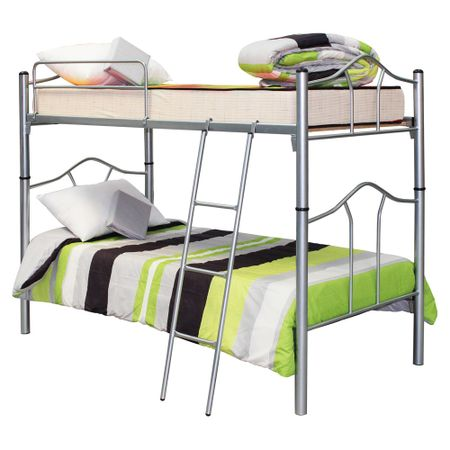 Camarote-Metalico-1-Plaza-Mantahue-Desmontable-Gris---Colchones-Espuma---Textil