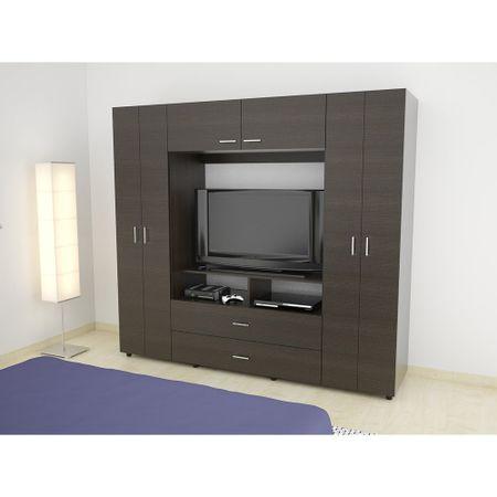 Closet-TuHome-6-Puertas-2-Cajones-TV-46-Z-200-Wengue