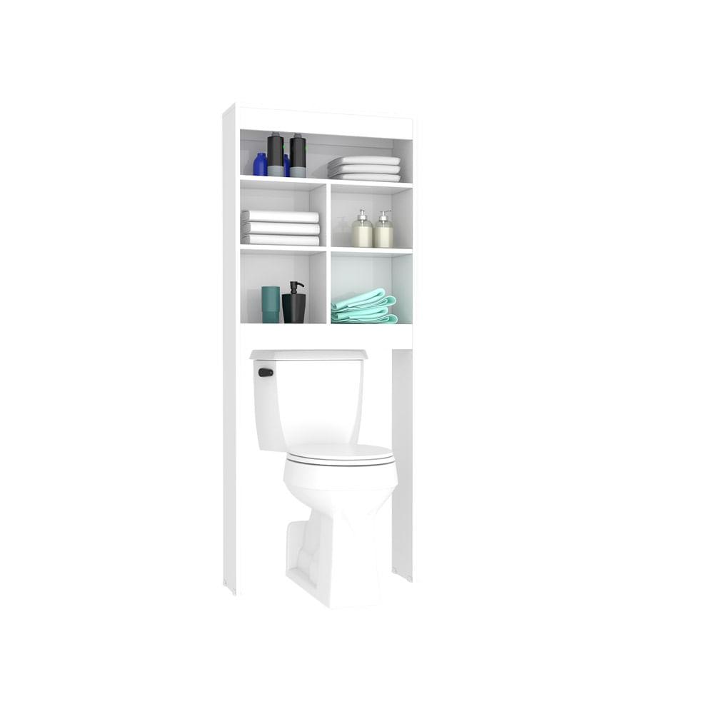 Mueble para bano sobre el inodoro for Muebles blancos para bano
