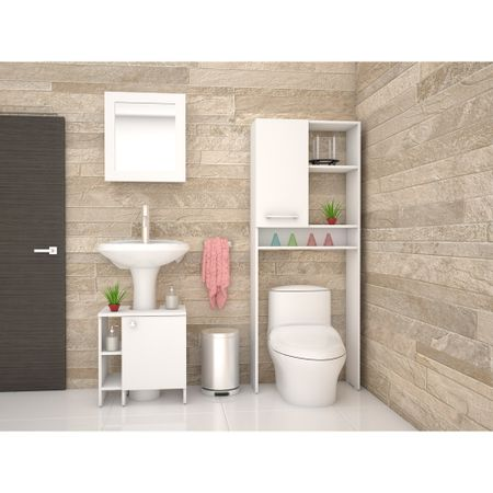 Combo-TuHome-Botiquin-Bath-47-B---Optimizador-Lavamanos-47-A---Bath-26-Blanco
