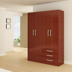 Closet-Roch-4-Puertas-3-Cajones-Caoba-