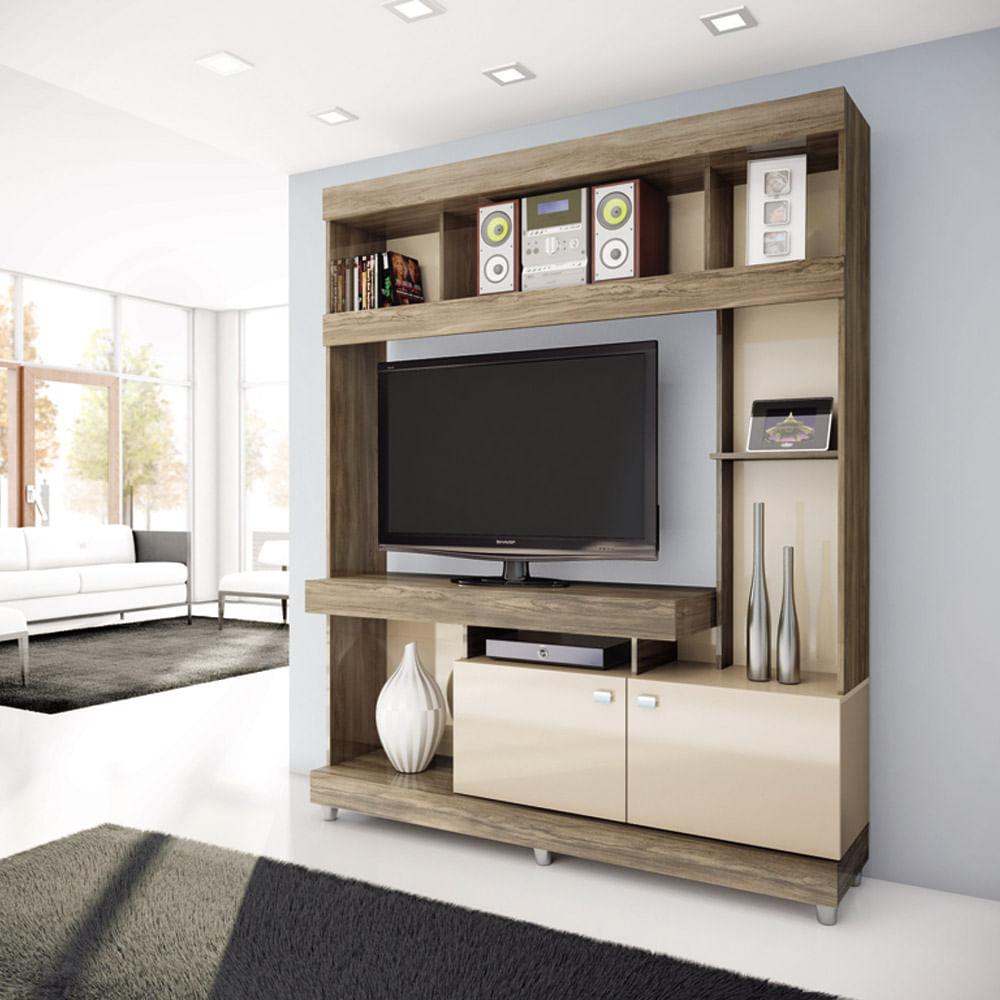 Sala De Tv Tipo Home ~ Estante Roch TV Ideal NogalArena (M13249)  Corona