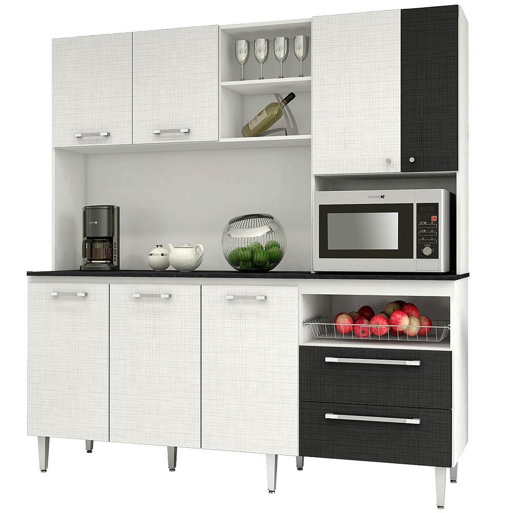 Mueble de cocina roch 7 puertas 2 cajones blanco m 1009 for Simulador de muebles de cocina