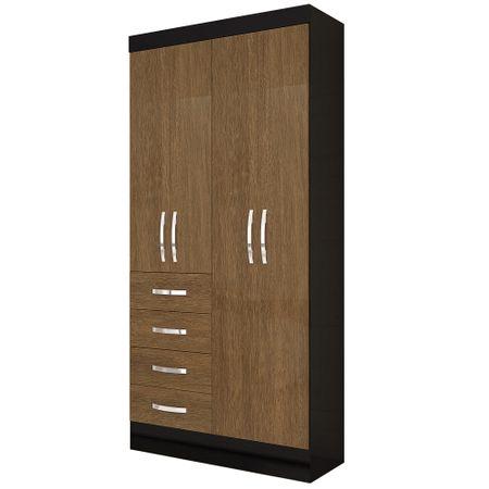 Closet-Roch-4-Puertas-4-Cajones-M-325-7-Avellana-Negro