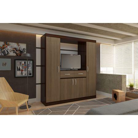 Closet-TV-32--4-Puertas-2-Cajones-Roch-Avellana-Chococlate