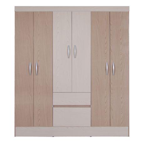 Closet-6-Puertas-2-Cajones-Favatex-Flash-Avellana-Castaño