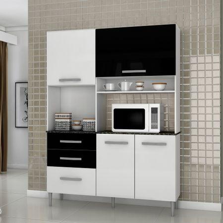 Mueble-de-Cocina-4-Puertas-3-Cajones-Favatex-Iza-2000400-Blanco-Negro
