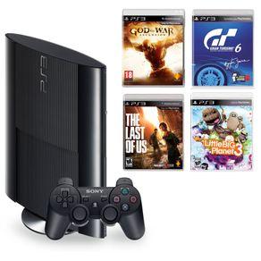 Consola-PS3--500-GB---4-Juegos--The-Last-of-Us---God-of-War-Ascension---Little-Big-Planet-3---Gran-Turismo-6-
