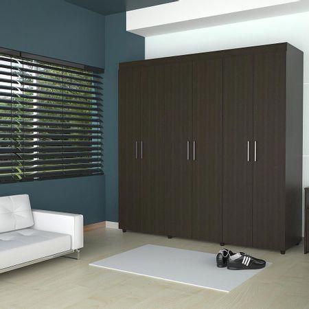 Closet-6-Puertas-2-Cajones-TuHome-Amatista-Wengue-Negro
