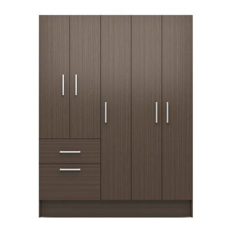 Closet-5-Puertas-2-Cajones-Silcosil-Chocolate
