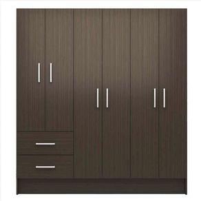 Closet-6-Puertas-2-Cajones-Silcosil-Chocolate