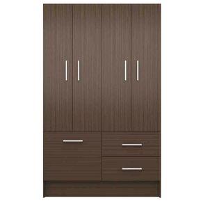 Closet-4-Puertas-3-Cajones-Silcosil-Chocolate
