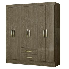 Closet-6-Puertas-2-Cajones-Roch-M-262-Roble-Alto-Brillo