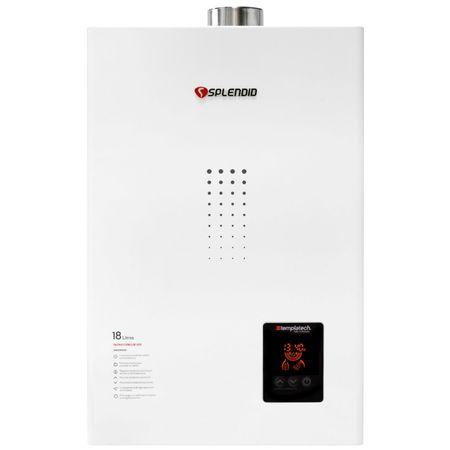 Calefon-Ionizado-Splendid-GL-Templatech-Full-Control-Blanco-Tiro-Forzado-18-Litros