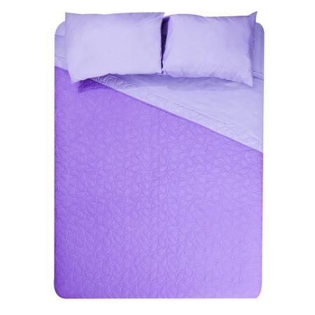 set-quilt-2-plazas-5-piezas-bicolor-violet