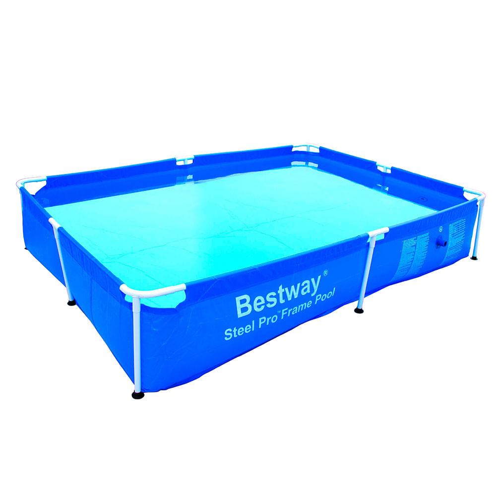 Piscina rectangular frame pool litros bestway corona for Piscina 500 litros