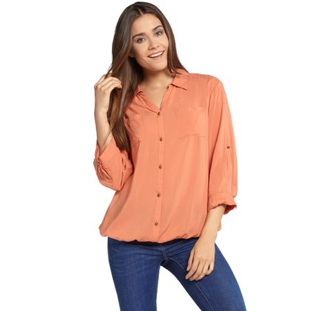 Blusa-Viscosa-3-4-Dark-Peach