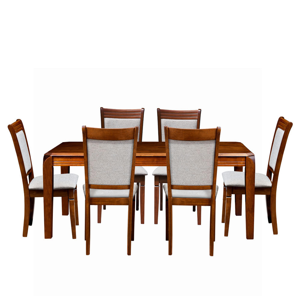 Comedor arsenal decomuebles 6 sillas corona for Sillas contemporaneas