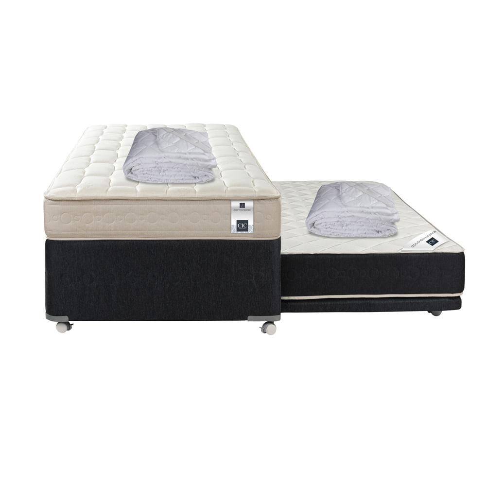 Divan cama 1 1 2 plaza cic ortopedic black 105x200 for Precio cama 1 plaza