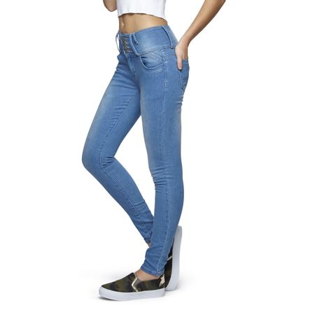 Jeans-High-Waist-5-Botones-Azul-Claro