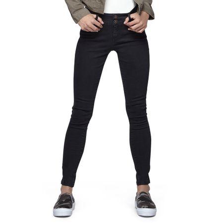 Jeans-High-Waist-Elastico-2-Botones-Negro