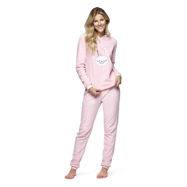 Pijama-Fleece-con-Gorro-Rosa
