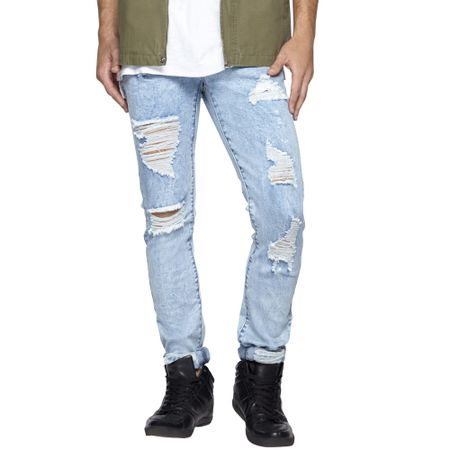 Jeans-Slim-Full-Destroyed-Light-Blue