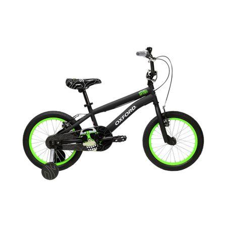 bicicleta-oxford-aro-16-spine-negro-verde-bf1619