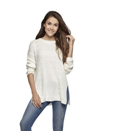 Sweater-Acanalado-Ecru