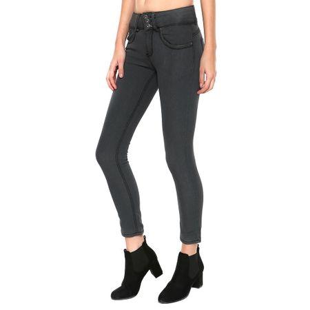 Jeans-High-Waist-Gris-