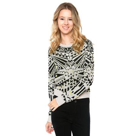 Sweater-Print-Ecru-