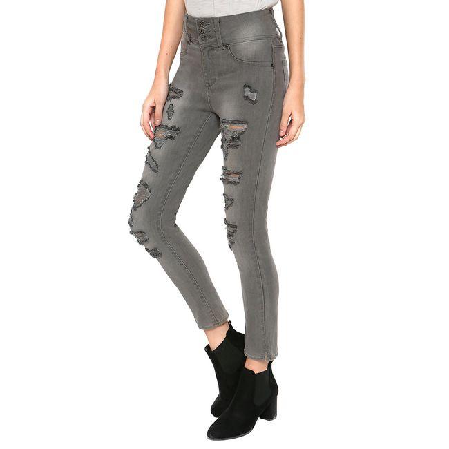 Jeans-High-II-Waist-Gris-