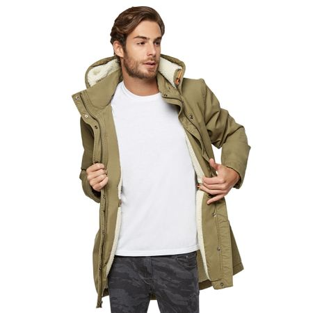 Chaqueta-Long-Fit-con-Sherpa-Army-Green-