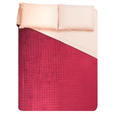 quilt-plush-bicolor-sabanas-2-plazas-burdeo