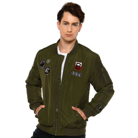 Chaqueta-Bomber-Parches-Army-Green-