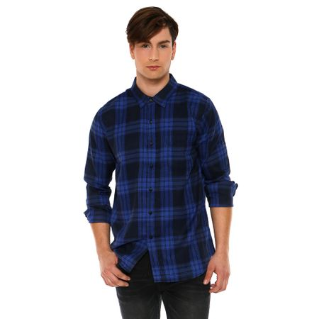 Camisa-Franela-Blue-Black-