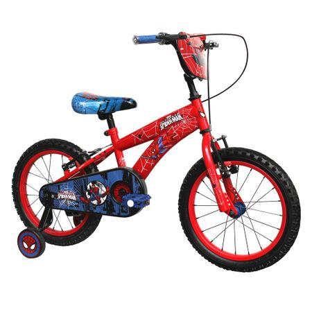 Bicicleta-Lahsen-Aro-16-Hombre-Spiderman-Rojo-BH81601R