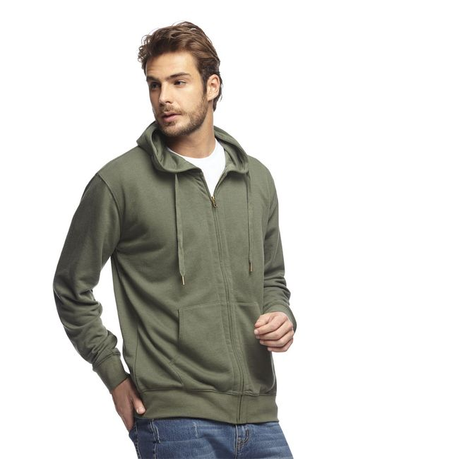 Poleron-Full-Zipper-Hood-Army-Green