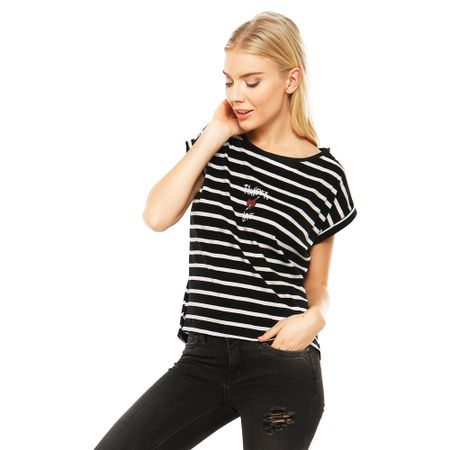 Polera-Manga-Corta-Yarn-Die-Stripes-